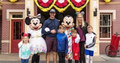 New Orleans Saints Quarterback Drew Brees Brings His Whole Family Out for Day at Disneyland
